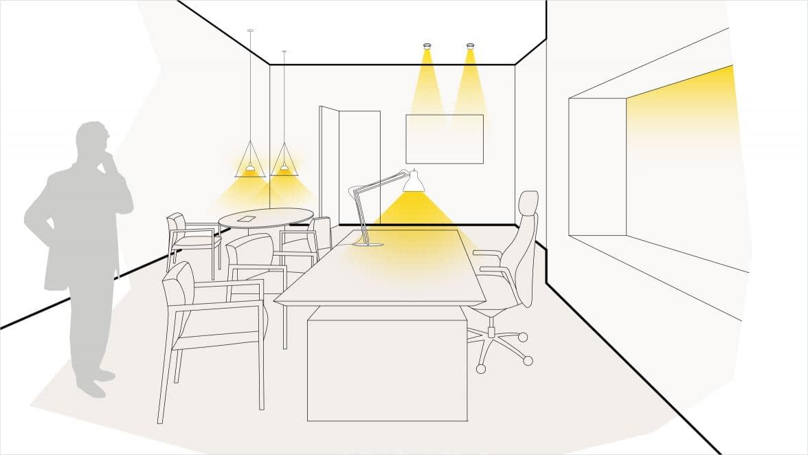 Lichtszene Arbeitsplatz